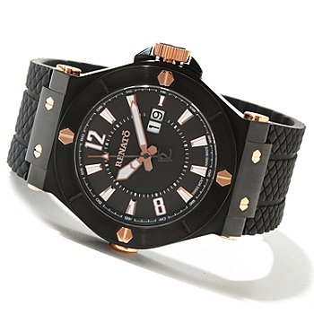 621-168 - Renato Men's Wilde-Beast Limited Edition Swiss Quartz Rubber Strap Watch