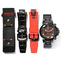 TTV INVICTA MEN'S COALITION FORCES TRIGGER BLACK LABEL CHRONO 4PC SET W/ Extra Straps/DC