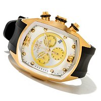 INVICTA MEN'S LUPAH QUARTZ CHRONOGRAPH PU STRAP WATCH
