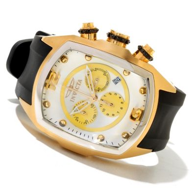 621-261 - Invicta Men's Lupah Quartz Chronograph Stainless Steel Polyurethane Strap Watch