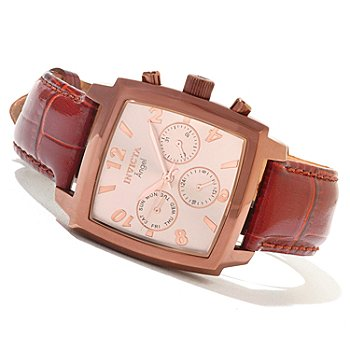 621-262 - Invicta Women's Angel Quartz Stainless Steel Leather Strap Watch