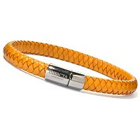 INVICTA MEN'S LEATHER WOVEN BRACELT