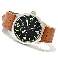 Stuhrling Original Men's Tuskegee Classic Quartz Leather Strap Watch
