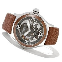 Stuhrling Original Men's Alpine Reaper Automatic Skeleton Strap Watch