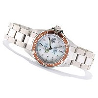INVICTA WOMEN'S PRO DIVER QUARTZ MOP DIAL STAINLESS BRACELET WATCH