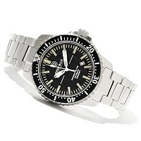 DEEP BLUE MEN'S T-100 TRITIUM RECON 65 AUTOMATIC STAINLESS BRACELET WATCH