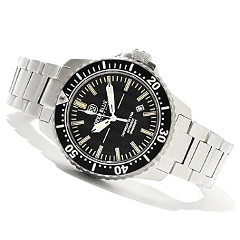 621-325 - Deep Blue Men's T-100 Tritium Diver Automatic Stainless Steel Bracelet Watch
