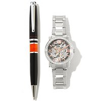 TTV Stuhrling Original Men's/Women's Winchester Supreme Automatic Watch W/Pen
