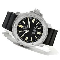 DEEP BLUE MENS DAY/NIGHT OPS PRO MILITARY FLAT TUBE AUTOMATIC STRAP WATCH