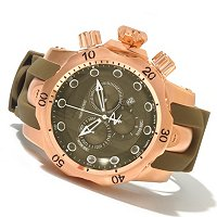 INVICTA RESERVE MEN'S VENOM SWISS QUARTZ CHRONO POLYURETHANE STRAP WATCH