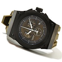 INVICTA RESERVE MEN'S AKULA SWISS QUARTZ CHRONO POLYURETHANE STRAP WATCH