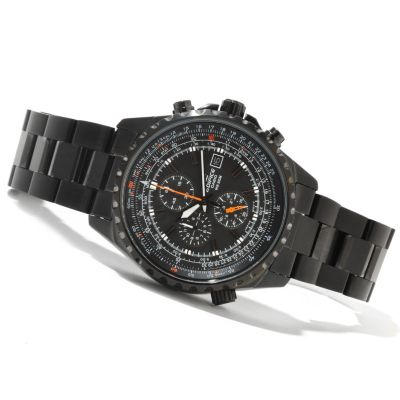 621-362 - Casio Men's Edifice Black Label Quartz Chronograph Stainless Steel Bracelet Watch