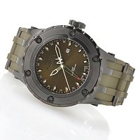 INVICTA RESERVE MEN'S SPECIALTY SUBAQUA SWISS QUARTZ GMT POLY STRAP WATCH