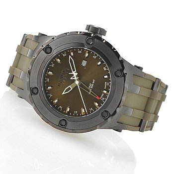621-373 - Invicta Reserve Men's Specialty Subaqua Swiss Made Quartz GMT Strap Watch