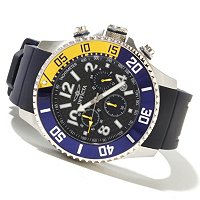 INVICTA MEN'S PRO DIVER QUARTZ CHRONO CARBON FIBER DIAL STRAP WATCH