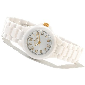 621-427 - Invicta Women's Ceramic Quartz Mother-of-Pearl Dial Bracelet Watch