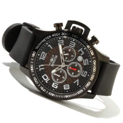 621-432 - Invicta Men's Specialty Quartz Chronograph Stainless Steel Polyurethane Strap Watch