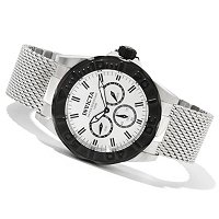 INVICTA MEN'S PRO DIVER QUARTZ DAY & DATE STAINLESS STEEL MESH BRACELET WATCH