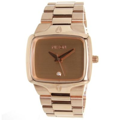 621-442 - Nixon Men's Classic Player Rose-tone Stainless Steel Bracelet Watch