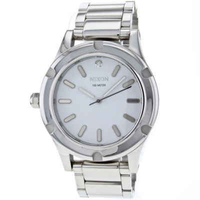 621-460 - Nixon Men's Camden Quartz Silver-tone Stainless Steel Bracelet Watch