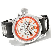 INVICTA MEN'S RUSSIAN DIVER QUARTZ MULTIFUNCTION PU STRAP WATCH