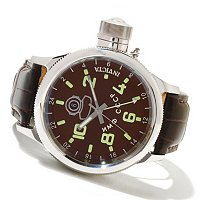INVICTA MEN'S RUSSIAN DIVER QUARTZ GMT ALLIGATOR STRAP WATCH