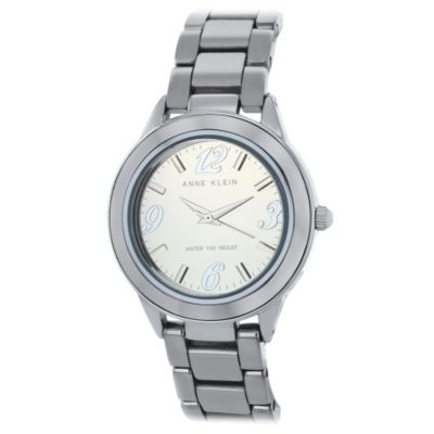 621-568 - Anne Klein Women's Ceramic Quartz Silver-tone Ceramic Bracelet Watch
