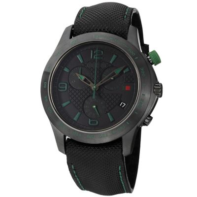 621-613 - Gucci Men's Timeless Swiss Made Quartz Black Leather Strap Watch
