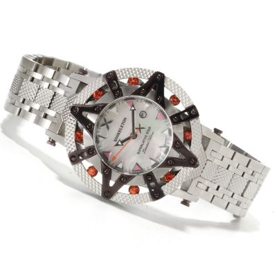 621-638 - XO Skeleton Women's Superlative Star Limited Edition Swiss Quartz Stainless Steel Watch