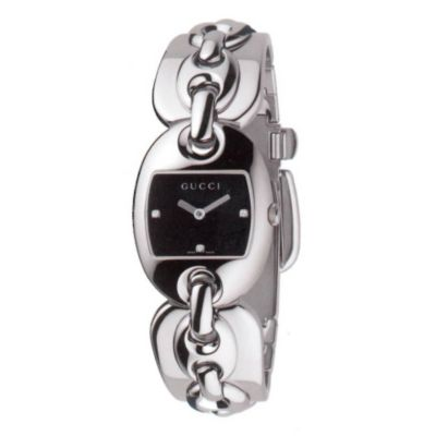 621-641 - Gucci Women's Marina Swiss Made Quartz Diamond Accent Stainless Steel Bracelet Watch