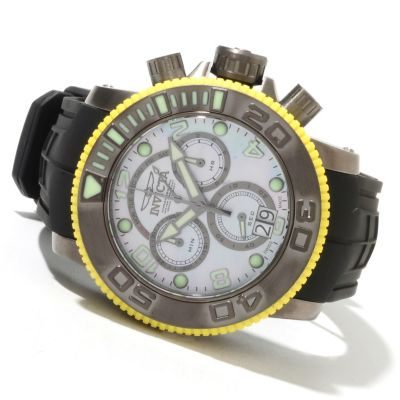 621-722 - Invicta Men's Sea Hunter Swiss Made Quartz Chronograph Stainless Steel Polyurethane Strap Watch