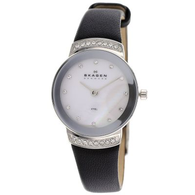 622-001 - Skagen Women's Quartz Mother-of-Pearl Watch Made w/ Swarovski® Elements