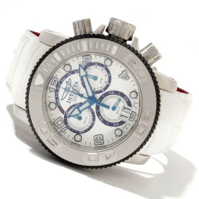 622-065 - Invicta Men's Sea Hunter Swiss Made Quartz Chronograph Leather Strap Watch