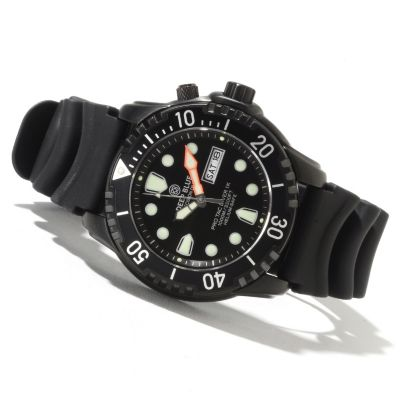 622-081 - Deep Blue Men's Protac Diver 1000 Quartz Stainless Steel Strap Watch