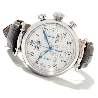 622-190 - Ritmo Mundo Men's Corinthian Quartz Chronograph Leather Strap Watch
