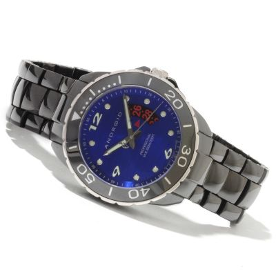622-212 - Android Men's Exotic Divemaster Swiss Quartz Ceramic Bracelet Watch w/ Four-Slot Case