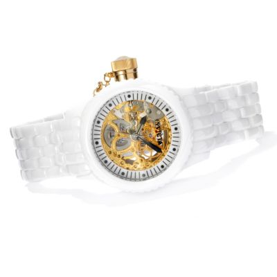 622-247 - Invicta Women's Russian Diver Skeletonized Mechanical Ceramic Bracelet Watch