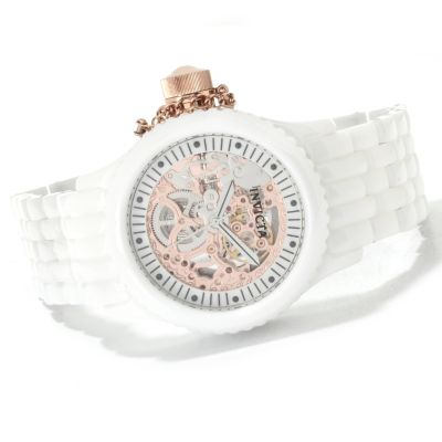 622-297 - Invicta Women's Russian Diver Mechanical Skeletonized Ceramic Bracelet Watch