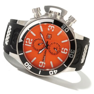 622-305 - Invicta Men's Corduba Quartz GMT Stainless Steel Case Polyurethane Strap Watch