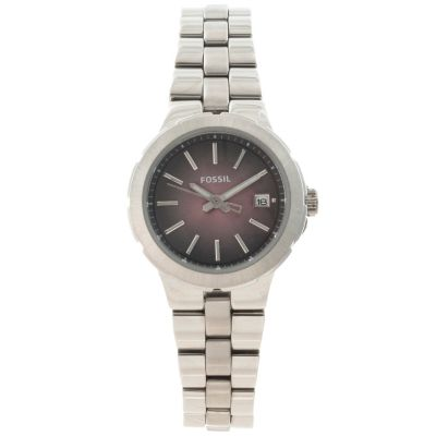 622-419 - Fossil Women's Sylvia Quartz Sunburst Dial Stainless Steel Bracelet Watch