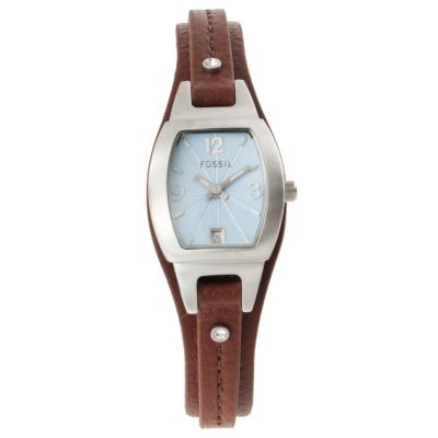 622-423 - Fossil Women's Fashion Quartz Skinny Leather Strap Watch