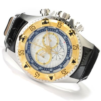 622-478 - Invicta Men's Excursion Quartz Chronograph Stainless Steel Genuine Leather Strap Watch
