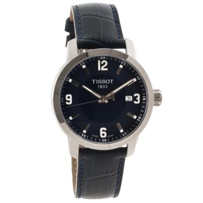 622-554 - Tissot Men's PRC 200 Swiss Made Quartz Blue Leather Strap Watch