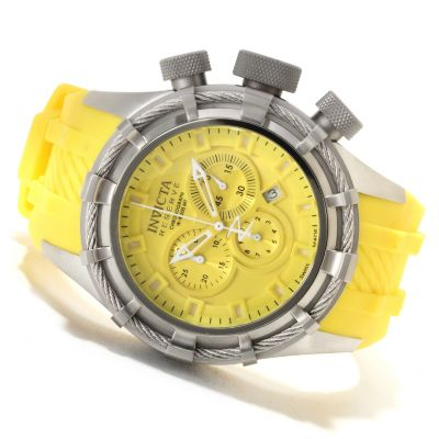 622-677 - Invicta Reserve Men's Bolt Swiss Made Quartz Chronograph Silicone Strap Watch
