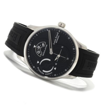 622-727 - Louis Erard Men's 1931 Swiss Made Mechanical Rubber Strap Watch