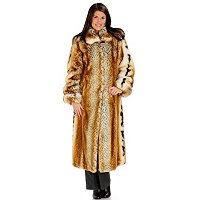 "50"" FAUX FUR COAT W/TURNBACK CUFFS"