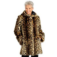 TV PAMELA MCCOY FAUX FUR HOODED COAT