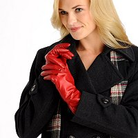 EXCELLED LADIES LAMB LEATHER GLOVES WITH CASHMERE LINING