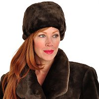 PAMELA MCCOY FAUX FUR HAT