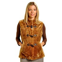 Pamela McCoy Fur Replica Toggle Vest